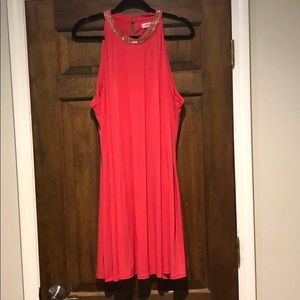 CALVIN KLEIN CORAL SWING DRESS SZ 22